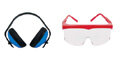 Gehoerschutz-Schutzbrillen