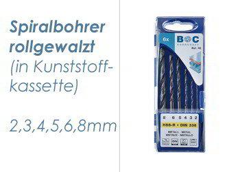 HSS-R Kassette 6 teilig  2-8mm (1 Stk.)