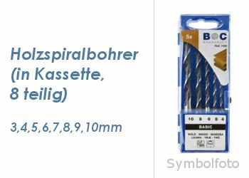 Holzspiralbohrersatz 8 teilig  3-10mm (1 Stk.)