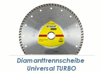 230 x 2,5mm Diamanttrennscheibe Universal Turbo (1 Stk.)