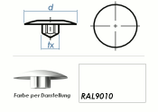 TX40 Abdeckkappe RAL9010 / weiss  (10 Stk.)