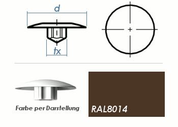 TX25 Abdeckkappe RAL8014 / sepiabraun (10 Stk.)