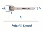 12mm HM-Frässtift Kugel (1 Stk.)