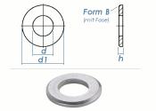 10,5mm Unterlegscheiben DIN125 Form B Edelstahl A2 (10 Stk.)