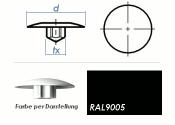 TX15 Abdeckkappe RAL9005 / schwarz  (10 Stk.)