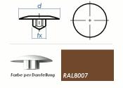 TX15 Abdeckkappe RAL8007 / rehbraun  (10 Stk.)