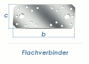 180 x 40 x 2,5mm Flachverbinder verzinkt (1 Stk.)