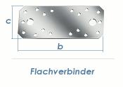 204 x 90 x 3mm Flachverbinder verzinkt (1 Stk.)
