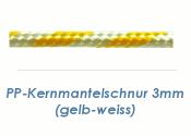3mm PP- Kernmantelsschnur gelb/weiss (je 1 lfm)