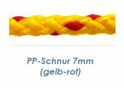 7mm PP- Schnur Rundgeflochten Gelb-Rot (je 1 lfm)
