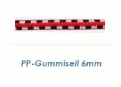 6mm PP Gummiseil Bunt (je 1 lfm)
