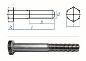 M5 x 40mm Sechskantschrauben DIN931 Teilgewinde Edelstahl...