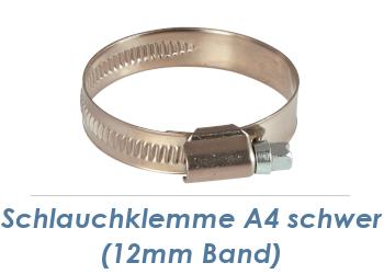 50-70mm / 12mm Band Schlauchklemmen Edelstahl A4 (1 Stk.)