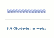 4mm PA Starterleine Weiß (je 1 lfm)