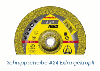115 x 6mm Schruppscheibe f. Metall  A24 Extra (1 Stk.)