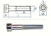 M4 x 25mm Zylinderschrauben DIN912 Stahl verzinkt FKL 8.8...
