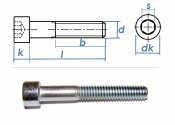 M6 x 20mm Zylinderschrauben DIN912 Stahl verzinkt FKL 8.8...
