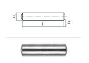 4 x 12mm Zylinderstift  Edelstahl gem. DIN7 / ISO2338 (10...