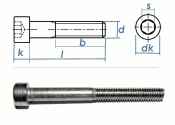 M10 x 45mm Zylinderschraube DIN912  Edelstahl A2  (1 Stk.)