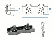 2mm Duplex Seilklemmen Edelstahl A4 (1 Stk.)