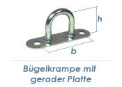30mm Bügelkrampe mit gerader Platte verzinkt (1 Stk.)