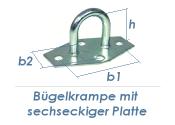 30mm Bügelkrampe mit sechseckiger Platte verzinkt (1...