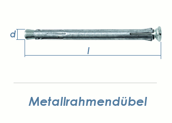 10 x 112mm Metallrahmendübel (1 Stk.)