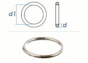 6 x 50mm Ring geschweißt Stahl verzinkt (1 Stk.)