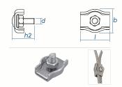 3mm Simplex Seilklemmen Stahl verzinkt (10 Stk.)