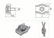 4mm Simplex Seilklemmen Stahl verzinkt (1 Stk.)