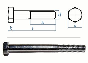 M8 x 90mm Sechskantschrauben DIN931 Teilgewinde Stahl verzinkt FKL8.8 (10 Stk.)
