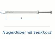 6 x 80mm Nageldübel m. Senkkopf (10 Stk.)