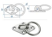 22mm Bügelkrampe mit Ring Edelstahl A2 (1 Stk.)