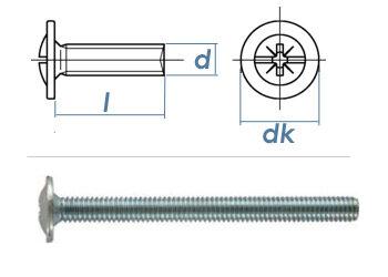 M4 x 20mm Möbelgriffschrauben verzinkt  (100 Stk.)