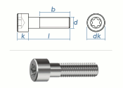 M5 x 12mm Zylinderschrauben TX ISO14579 Edelstahl A2 (10...