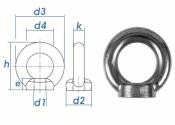 M6 Ringmutter ähnl. DIN 582 Edelstahl A2 - gegossene...