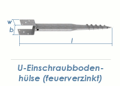 80 x 700mm U-Einschraubbodenhülse feuerverzinkt (1 Stk.)