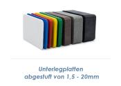 60 x 40 x 3mm PP Unterlegplatte (10 Stk.)