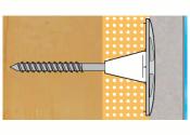 60mm Klimax Dämmplattenhalter f. 6mm Schrauben (10 Stk.)