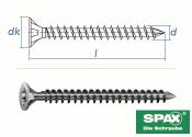 8 x 160mm SPAX Konstruktionsschrauben Vollgewinde TX...