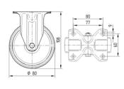80 x 34mm Bockrolle Polyamid (1 Stk.)