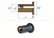 M3 x 11,4mm EPDM-Blindnietmuttern (10 Stk.)
