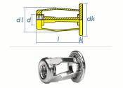 M8 x 25,5mm Spreiz-Blindnietmuttern Stahl (1 Stk.)