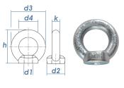 M8 Ringmutter DIN 582 Stahl C15E verzinkt (1 Stk.)