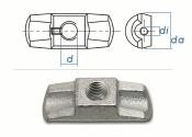 M20 Simplex Mutter Stahlguss verzinkt (1 Stk.)