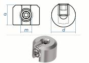 4mm Drahtseilklemmring 1-Teilig Edelstahl A4 (1 Stk.)