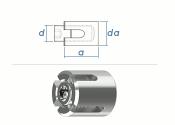 4mm Drahtseil-Kreuzklemme Edelstahl A4 (1 Stk.)