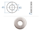 6,4mm Unterlegscheiben DIN134 Edelstahl A2  (10 Stk.)