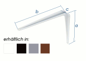 100 x 125mm Stahlblechkonsole schwarz (1 Stk.)