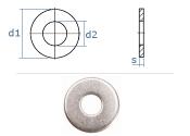 17mm Unterlegscheiben DIN134 Edelstahl A2  (10 Stk.)
